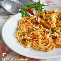 Pasta al sugo di trota Tortellini, Gnocchi, Spaghetti, Cooking, Breakfast, Ethnic Recipes, Estate, Food, Projects