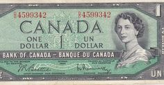 Canadian Banknotes One Dollar Note 1967 Centennial of Canadian Confederation Bank of Canada - Banque du Canada On 3 January Canadian Dollar, Canadian Coins, I Am Canadian, Canadian History, Cash Money, Old Money, Elizabeth Ii, Ottawa, Queen Elizabeth