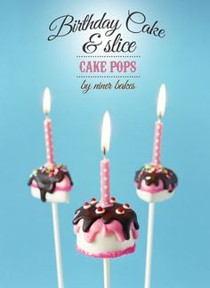 how to make birthday cake - cake pops and slice cake pops - tutorial by niner bakes