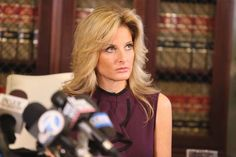 "Summer Zervos, a former candidate on ""The Apprentice,"" speaks to the press with her attorney Gloria Allred Oct. 14, 2016 in Los Angeles."