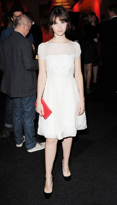 Felicity Jones attends the British Independent Film Awards in London, England.