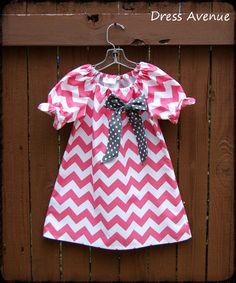 Pink Chevron dress. Toddler girls dress. Spring by DressAvenue, $34.00
