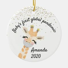 Baby Ornaments, Christmas Ornaments, Giraffe Decor, Babies First Christmas, Home Gifts, Keep It Cleaner, Holiday Cards, Baby Gifts, Messages