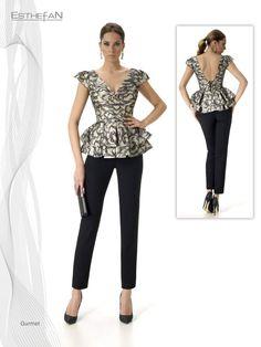 Modelo Gurmet top +pantalón.  Una prenda diferente y con mucho estilo. Coleccion Esthefan