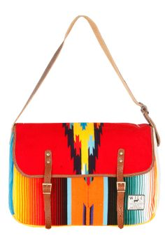 While there may have been debates about the negative impacts of the repeated cultural stereotyping we're seeing in fashion at the moment with a simplistic version of 'ethnic print', this bag is nevertheless FABULOUSLY STYLISH.