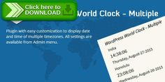 [ThemeForest]Free nulled download WordPress World Clock – Multiple from http://zippyfile.download/f.php?id=58719 Tags: ecommerce, clock with daylight saving, clocks for different cities, clocks for different countries, clocks for different locations, clocks for different time zones, multiple clocks, responsive clocks for wordpress, wordpress widget for multiple clocks