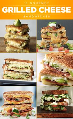There's nothing like a grilled cheese sandwich when you're in need of a little comfort food. You can't go wrong with a simple classic, but we've got 11 gourmet recipes that take this sandwich to the next level. ...