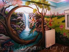Ζωγραφική παιδικού δωματίου με την Τίνκερμπελ