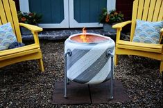 Turn an Old Washing Machine Drum Into a Firepit to Turn an Old Washing Machine Drum Into a Firepit Aromatherapy Shower Melts Camper's Toilet Paper Dispenser Satisfying soap hacks and DIYs. Fire Pit Drum, Fire Pit Uses, Diy Fire Pit, Fire Pit Backyard, Fire Pits, High Heat Spray Paint, Washer Drum, Outdoor Fire, Outdoor Decor