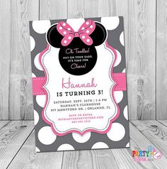 Editable Minnie Mouse Birthday Invitations Ideas for the House
