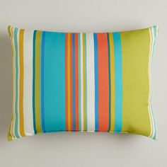 One of my favorite discoveries at WorldMarket.com: Striped Santorini Outdoor Lumbar Pillow