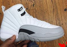 023e68fecdedba Air Jordan 12 GS White Wolf Grey 153265-007