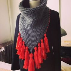 Knit Dreams from MitiMota Knit Cowl, Knitted Poncho, Knitted Shawls, Crochet Scarves, Crochet Clothes, Cowl Scarf, Crochet Woman, Knit Or Crochet, How To Purl Knit