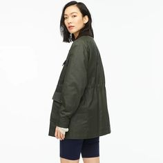J.Crew: Classic Field Jacket For Women Field Jacket, Rain Jacket, Bomber Jacket, J Crew Summer, Lightweight Jacket, Cashmere Sweaters, Mens Suits, Cool Girl, Military Jacket