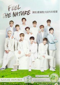 ♡ for Nature Republic 2013 131109 Exo Chanbaek, Exo Ot12, Chanyeol, Exo Nature Republic, Exo Group Photo, Solo Pics, Exo Members, Exo K, Good Looking Men