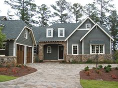 Craftsman Exterior, love the stone work!
