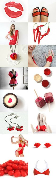 China Red....HOT LIPS... by Patti Sundik on Etsy--Pinned with TreasuryPin.com