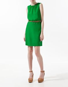 Green with envy. I would team this dress with a statement heel, elegant jewellery a high chignon and beautiful sultry make up and hit the lights! Only $62 from Zara