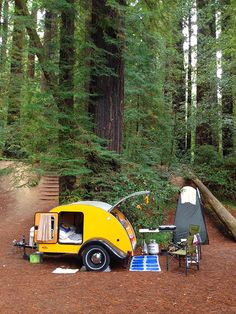 13 Fantastic Teardrop Camper Trailer Design Ideas For Nice Camping - Camper Life Mini Camper, Camper Diy, Camper Ideas, Tiny Trailers, Small Trailer, Camper Trailers, Rv Campers, Off Road Camper Trailer, Travel Trailers
