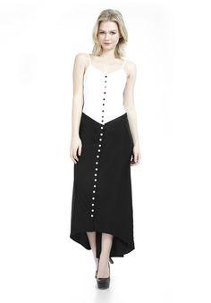 The Amy Tuxedo Dress- Black and White