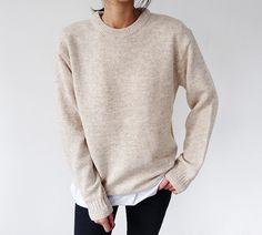@kamplainnn ❃ fall autumn winter style fashion outfit cream beige longsleeve minimal minimalistic