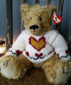 Ty Attic Treasures Heartly the Teddy Bear