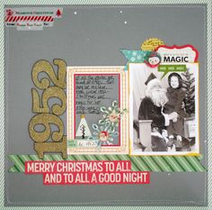 #papercraft #scrapbook #layout. Seriously...brains.: Oct. Afternoon's Make it Merry...plus a fun kit!