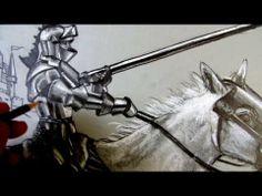How To Draw A Knight: Narrated step by step Drawing Skills, Drawing Lessons, Army Drawing, Knight Art, Knight In Shining Armor, Medieval Knight, Heart Art, Teaching Art, Types Of Art