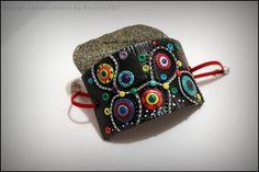 Abstract wide bracelet multicolor retro hippie funky by SweetlyART, $35.00