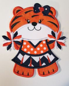 Iron On Applique  Tiger Cheer by BigBlackDogDesigns on Etsy, $5.99