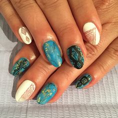 Turquoise and negative space. #gel #manicure #nails #nailart #SanFranciscoNails #NailsofIG #nailartoohlala #nailswag #nailtech #Shakiranailedit #SparkleSF