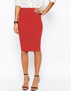 Image 4 of ASOS High Waisted Pencil Skirt
