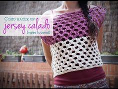 VÍDEO: Cómo hacer un jersey calado para el verano de ganchillo | How to crochet a summer sweater