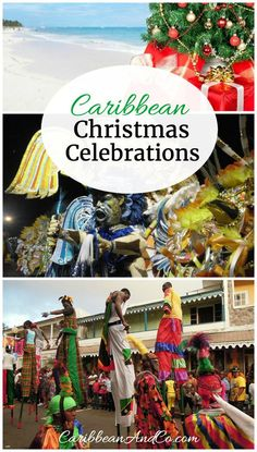 Find out about the Christmas season and traditions in the Caribbean which involves plenty of partying, visiting and festivity with family and friends. #Christmas  #CaribbeanChristmas