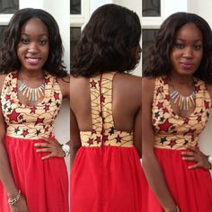 I like the cut of the top part of this dress. #africanstyle