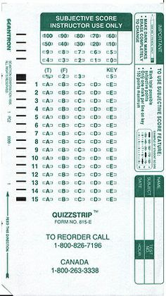 photograph relating to Printable Scantron Form titled Absolutely free scantrons printable sheets belmamosa