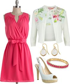 """""""Easter set #3"""" by lovelyingreen ❤ liked on Polyvore...minus th sweater."""