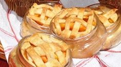 These little lattice-top personal peach pies in jars are the perfect way to use fresh peaches this time of year!