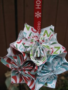 Christmas Kusudama Ball With YOUR CHOICE of by TreeTownPaper