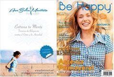 Be Happy. Diseño y maquetación para revista psicología femenina. Portada y contraportada.