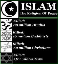 Islam - Religion of Peace?- so many crimes in the name of religion. It's the Radical Islam that is Evil, not the others who just want peace. We need to all respect each other, and not murder if someone thinks differently or has a different belief system. Islam Religion, Christianity, Islam Muslim, Sharia Law, Wordpress, Out Of Touch, Right Wing, God Bless America, Atheism