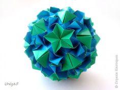 Кусудама Мастер-класс Оригами Roundelay Туториал  Бумага фото 1