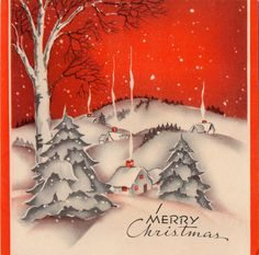 Vintage CHRISTMAS Greeting Card Country by ReTroStyleMerCantile