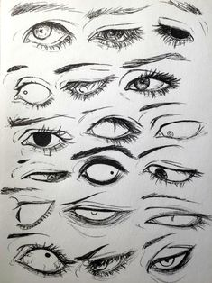 Drawings, Manga, Anime, Eyes, 18 designs to enhance your drawing - art - Drawings Manga Anime Eyes 18 designs to enhance your drawing - Anatomy Drawing, Manga Drawing, Manga Art, How To Draw Anime Eyes, Figure Drawing, Comic Book Drawing, Human Anatomy Art, Face Anatomy, Drawing Practice