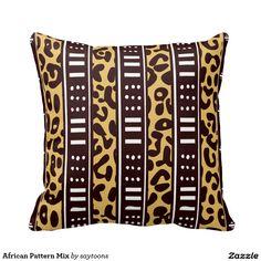 African Pattern Mix Throw Pillows