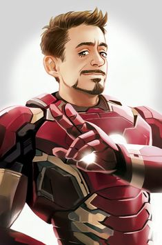 MCU Iron man/Tony Stark by Hallpen