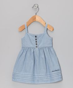 Another great find on #zulily! Calvin Klein Jeans Chambray Button Dress - Infant, Toddler & Girls by Calvin Klein Jeans #zulilyfinds