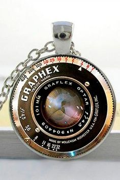 This glass photo pendant necklace is a great gift for any photographer. The pendant is around. Gifts For Friends, Gifts For Him, Great Gifts, Photographer Gifts, Glass Photo, Love Photography, Camera Lens, Photo Studio, Backdrops