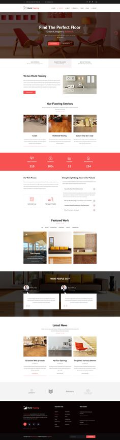 World Flooring - Flooring & Tiles PSD Template #laminate #painting & decoration #parquet • Download ➝ https://themeforest.net/item/world-flooring-flooring-tiles-psd-template/20037873?ref=pxcr