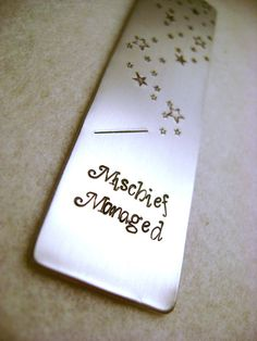 Metal Stamped Personalised Bookmark  Harry Potter by MauveMagpie, £5.00